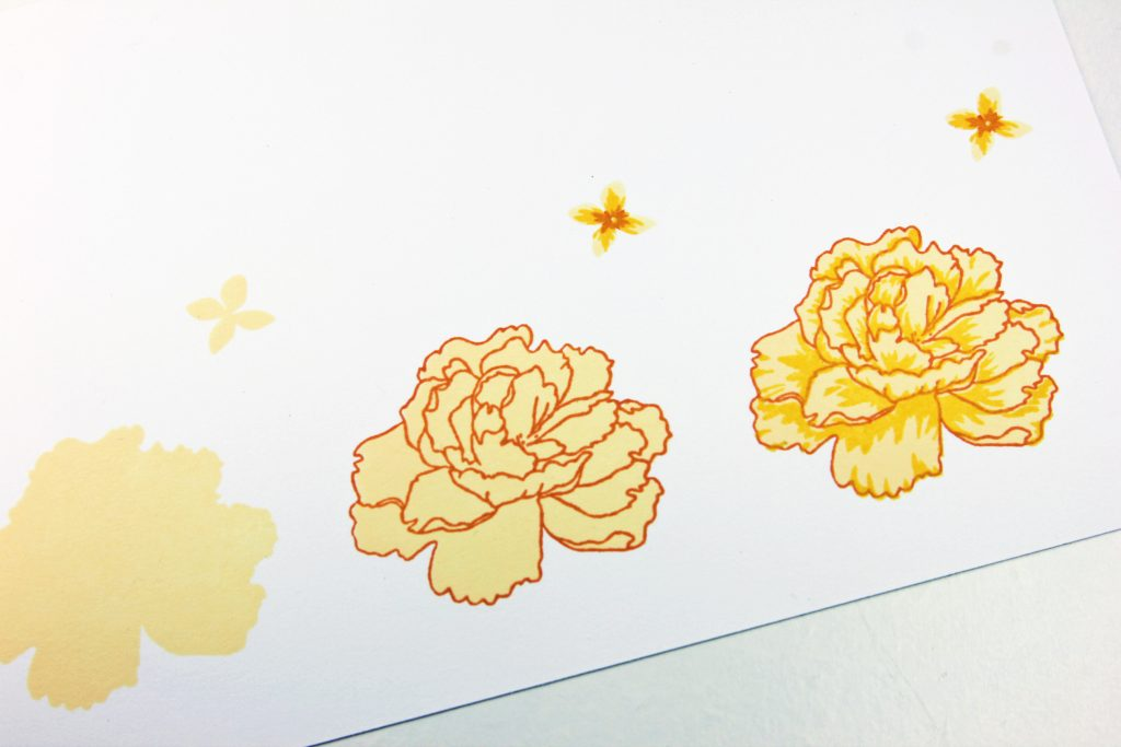 Birthday Peony Step By Step